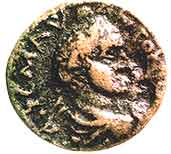 A coin with the likeness of Herod Antipas